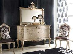 Sala da pranzo stile veneziano - Credenza con specchio in stile veneziano