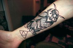 Kaepora Gaebora & Triforce tattoo
