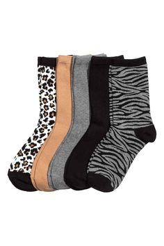 socks: Fine-knit socks in a soft cotton blend in various colours and designs. Knitting Socks, Knit Socks, Wish Gifts, Summer Winter, Everyday Outfits, Latest Fashion, Tights, Colours, Cotton
