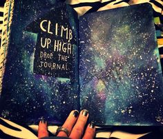Wreck this journal: climb up high drop the journal