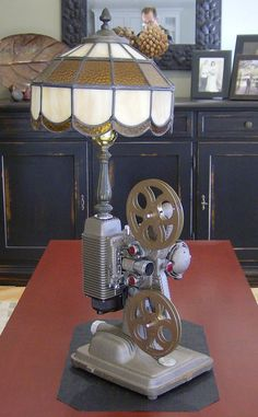 steampunk Victorian Vintage Steampunk Revere Movie Projector Lamp The Home Doctor Is In The Home Doc Steampunk Movies, Steampunk Lamp, Movie Projector, Projector Lamp, Steampunk Furniture, Movie Decor, Industrial Lighting, Industrial Style, Diy Room Decor