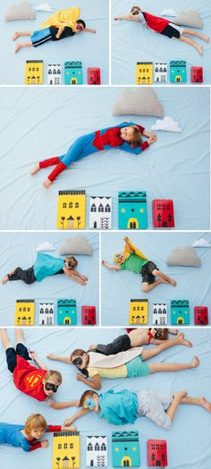 een superhelden foto maken! leuk voor een kinderfeestje?