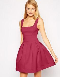 ASOS Debutante Scuba Skater Mini Dress with Square Neck - absolutely love this neckline