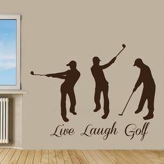 Sport Boys Player Quote Live Laugh Golf Home Vinyl Art Mural Bedroom Kids Nursery Decor Sticker Decal size 22x26 Color