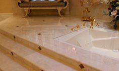Layout for Tile Tub Surround creme marvil | Crema Marfil Marble Bathroom