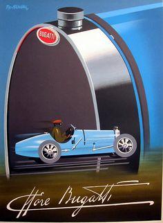 Bugatti Automobile Poster