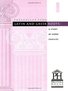 Vocabulary from Latin and Greek Roots: Book 1 by Elizabeth Osborne, http://www.amazon.com/dp/1580492002/ref=cm_sw_r_pi_dp_AcEHrb140VVPF
