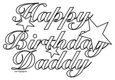 daddy printable birthday card happy birthday dad coloring happy