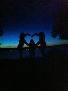 Silhouette photography by the lake