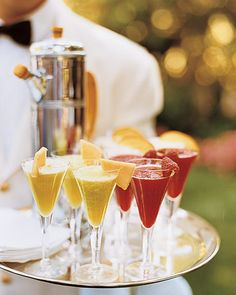 Signature Drinks for cocktail hour! Yum!