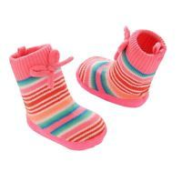 Baby Girl Carter's Knit-In Slipper Sock Crib Shoes, Size: 0-6 Months, Multicolor
