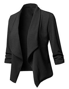 f2d22370f980 Uranus Veste Tailleur Femme Asymétrique Blazer Couleur Unie Grande Taille  Casual Manteau Chic Printemps Automne Hiver