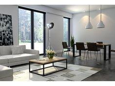 Elegancki stolik kawowy do nowoczesnego wnętrza. Dębowy blat nadaje całości klasy i szyku. Delikatne metalowe nogi świetnie kontrastują zciepłym dębowym blatem tworząc mebel uniwersalny i nowoczesny. ...