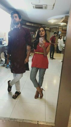 Bilal and Iqra Mahira Khan, Ayeza Khan, Cute Muslim Couples, Cute Couples Goals, Pakistani Dramas, Pakistani Actress, Cigratte Pants, Bilal Abbas Khan, Kurta Pajama Men
