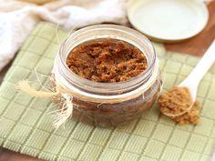 Esfoliante corporal de gengibre e óleo de côco