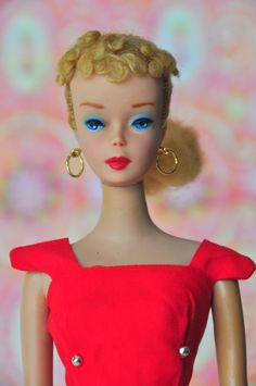 Vintage 1960-1961 - This was my first Barbie and she had a red Bathing suit!