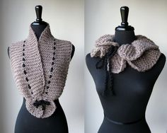 I think this is knitted, but could do it in crochet, too. It's different - I like it. :-)