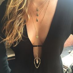 Starry Days! ✨ The Trinity Necklace and Vega Necklace over at @shopbop #vanessamooney #newarrivals #starrynights