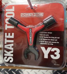 Why Three?  No... Y3! This Powerdyne Skate Tool is a must have in every Derby Bag.  Get it @ California Roller Stakes