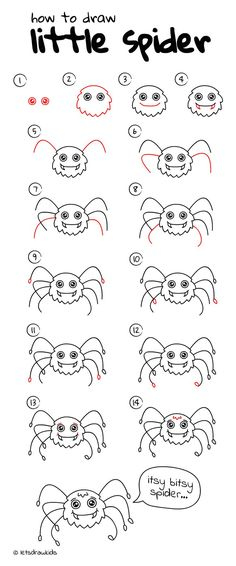 How To Draw Little Spider Easy Drawing Step By Perfect For Kids