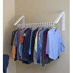 quik-closet Hanging Racks, Wardrobe Rack, Clothes Hanger, Ideas, Furniture, Organising, Wall Mount, Laundry Room, Home Decor