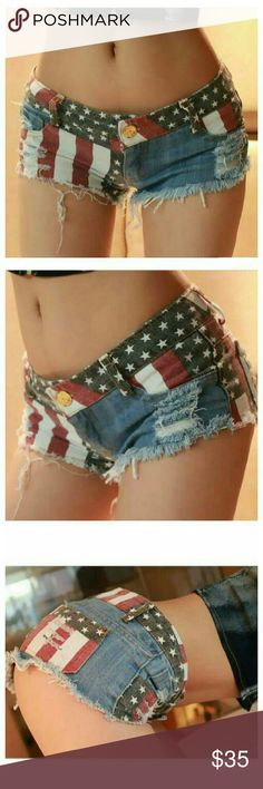 Sexy Women shorts American flag pattern 100% high quality  Material :Denim  Style : Fashion  Size : XL Shorts Jean Shorts