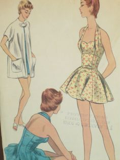 1950's Bathing Suit and Beach Coat McCall's 3164 by EmSewCrazy, $50.00
