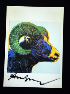 Andy Warhol Ram Signed Bookplate