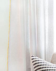 Easy Upgrade: Curtain Trim | Yellow Brick Home
