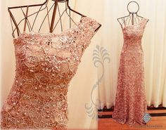 Prom Dress, Hot Sale Custom Made Blush Pink