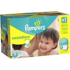 Pampers Swaddlers Disposable Diapers Size 5, 152 Count, ONE MONTH SUPPLY >>> Want additional info? Click on the image. (This is an affiliate link) #HealthHousehold