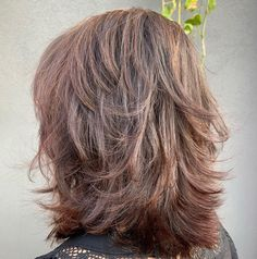 Pretty Shag with Swoopy Layers Layered Haircuts For Medium Hair, Medium Shag Hairstyles, Medium Length Hair With Layers, Haircut For Thick Hair, Medium Hair Cuts, Hairstyles Haircuts, Short Hair Cuts, Medium Hair Styles, Long Hair Styles