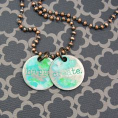 Distressed Charm Necklace