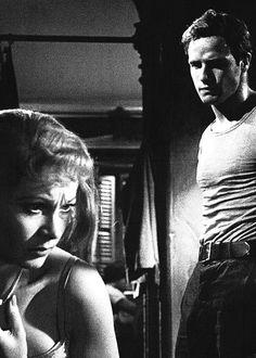 Vivien Leigh and Marlon Brando in 'A Streetcar Named Desire',1951.