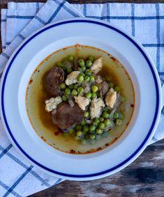 Zöldborsó leves csirkemájjal és galuskával - GastroHobbi