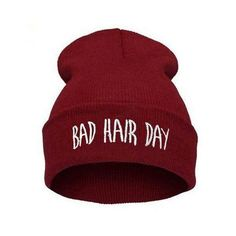 f973c35f0aa Winter Unisex Men women s hats Bad Hair Day Snap Back Beanie bonnet Knit  Hip Hop Sport Hat Ski Cap
