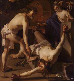 Prometheus chained by Vulcan. 1623. Dirck Van Baburen. Dutch 1594-1624. oil /canvas. http://hadrian6.tumblr.com