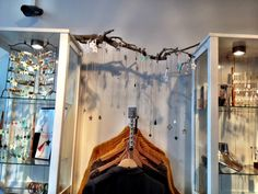 twig display for necklaces- Amsterdam boutique