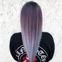 Purple to Silver Ombre