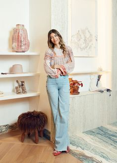 For her first brick-and-mortar store, the bohemian designer created a warm and welcoming space in downtown New York City. Bohemian Design, Bohemian Style, Bleecker Street, Downtown New York, Ulla Johnson, Laurel Canyon, Boho Beautiful, Minimal Fashion, E Design