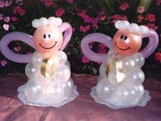 figuras con globos para primera comunion2