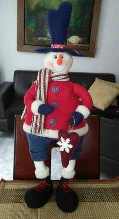 Christmas Snowman, Xmas, Frosty The Snowmen, Reno, Elves, Christmas Sweaters, Santa, Dolls, Fabric