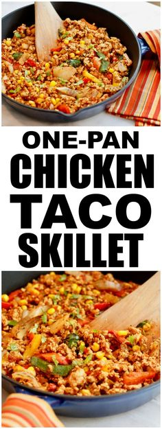Dinner that has 5 ingredients and comes together in one pan - PERFECT! This quick and healthy dinner will make everyone at the dinner table happy. Real Food Recipes, Chicken Recipes, Cooking Recipes, Healthy Recipes, Healthy Meals, Turkey Recipes, Chicken Meals, Crockpot Recipes, Diet Recipes