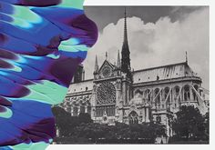 Painted postcards for Colette Paris by Leslie David