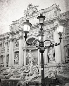 Trevi Fountain, Rome Photography, Black and White Photography, Travel Photo, Italy, Europe, Rome Fountain, Vertical, Wall Art, Home Decor