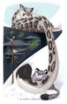 Snow+Leopards+by+Steph-Laberis.deviantart.com+on+@deviantART