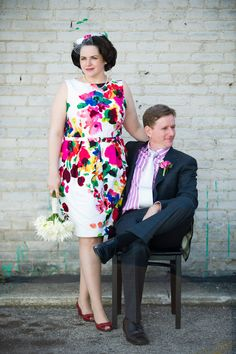 Would you wear a colorful floral dress for your wedding? Image by JBe photography