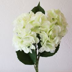 Mint green hydrangeas and other silk florals at Afloral.com