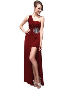 f6c277d58f one shoulder red long prom party graduation dresses 2013 - 2014 under 50  Prom  Dresses