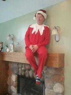 How to completely freak out your kids… A human Elf On A Shelf. Just wake up… And find a random man in an elf costume sitting on your mantle…this really makes me laugh….creepy and funny all at once.